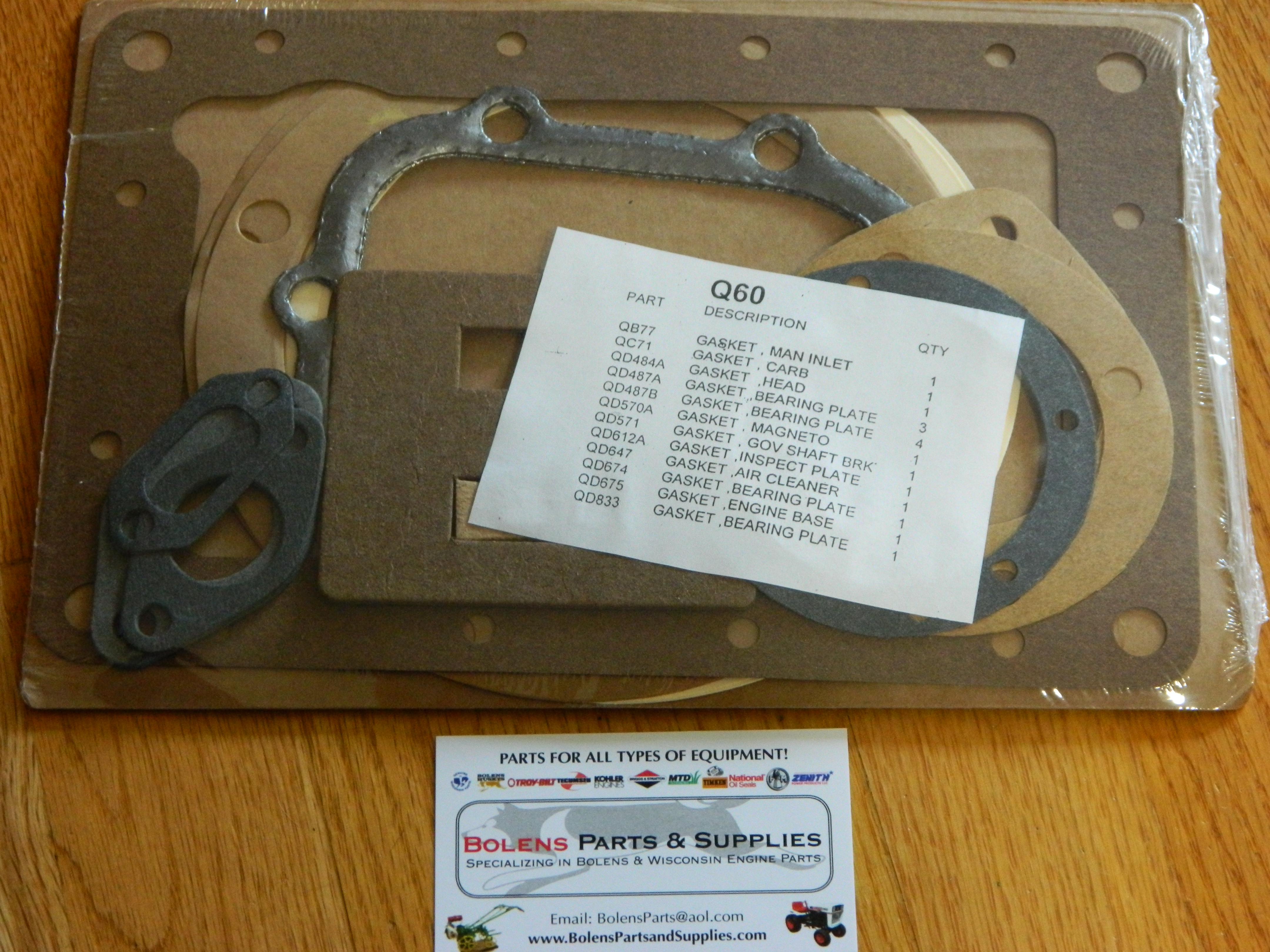 Wisconsin Engine Gasket set Q60 Replaces Wisconsin Q22
