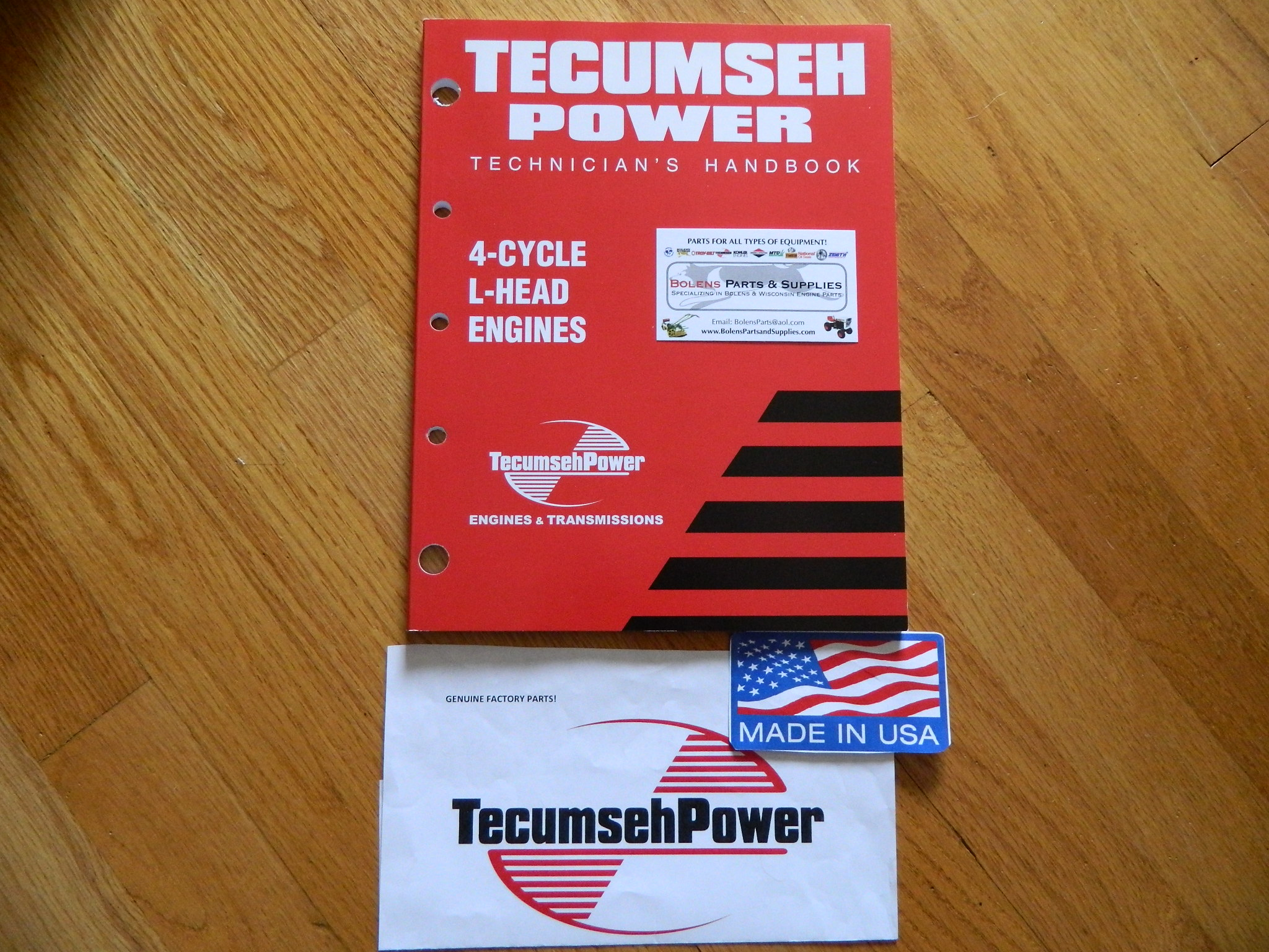 NEW Tecumseh engine 4cycle L head Repair service manual 3-11HP  mowers,tillers.. 692509 740049