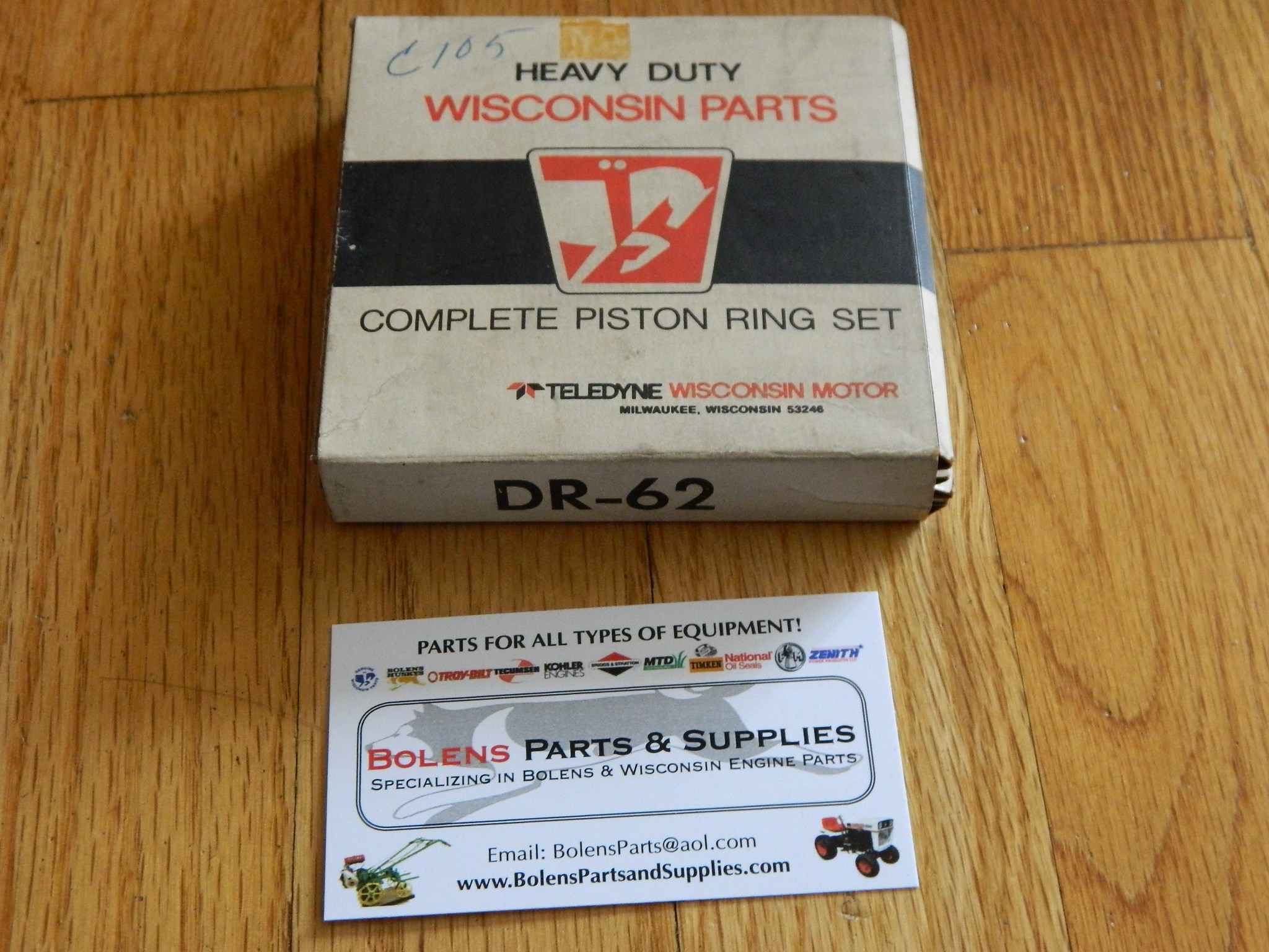 Bolens / Wisconsin Engine Piston Ring set STD DR62 TRA12D Bolens 1256 DR-62