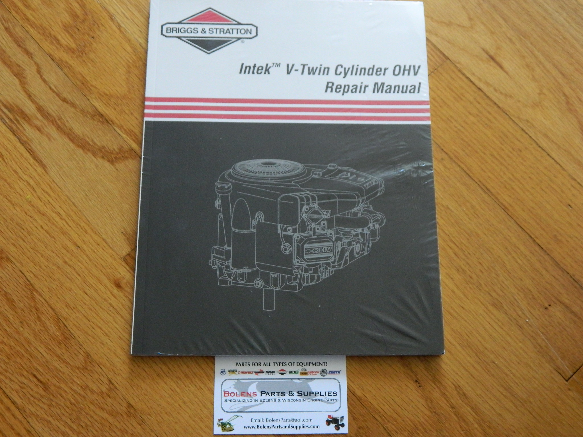 NEW BRIGGS & STRATTON Intek V-Twin OHV Repair Manual /Genuine manual not  reprint 273521