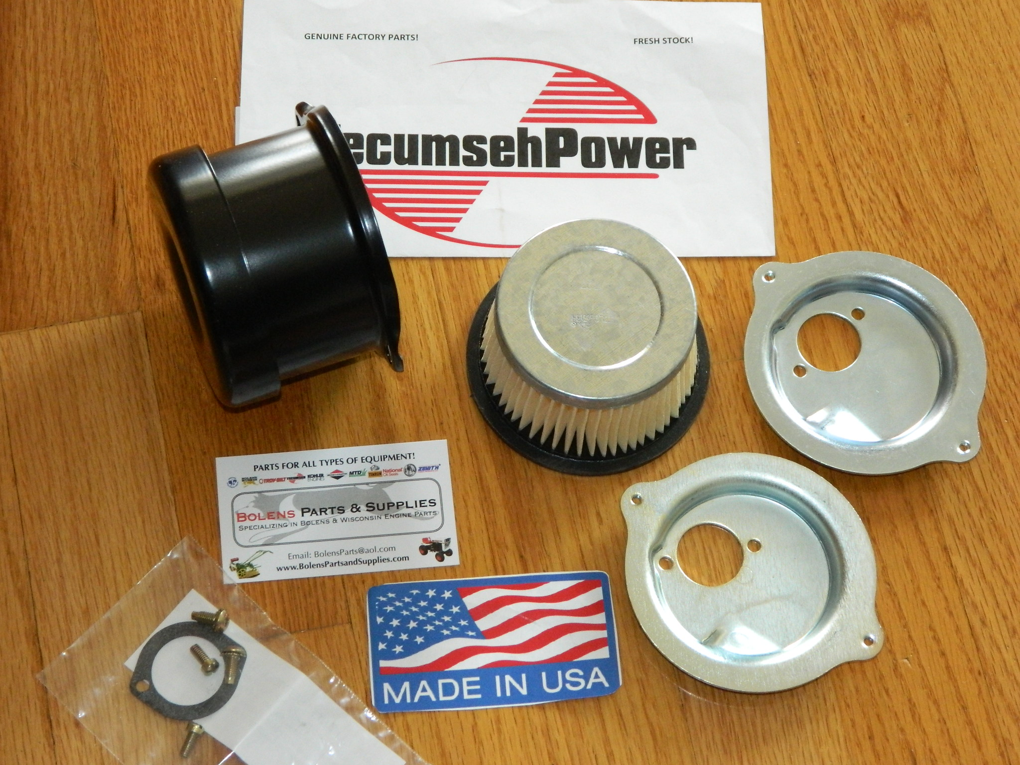 GENUINE Tecumseh Air cleaner 730164 mower tiller go cart Troy Bilt Tuffy  Tiller 30727