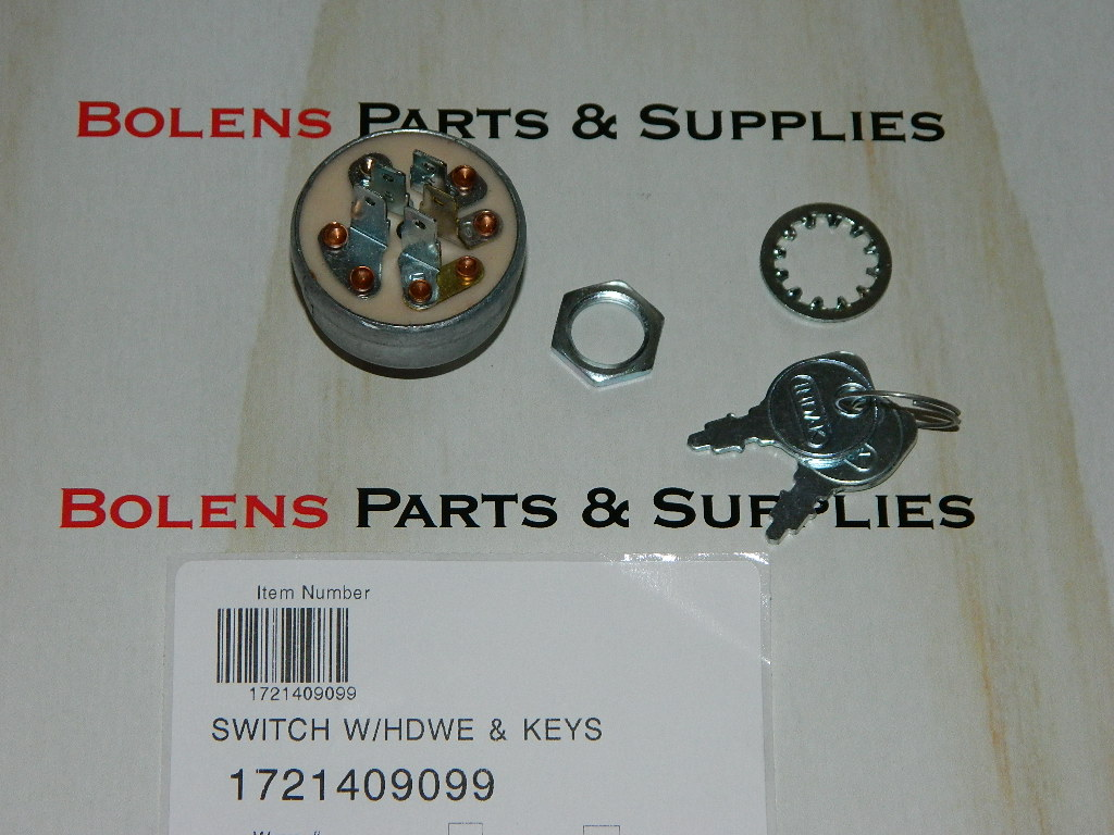 Bolens Parts    1721409 Bolens Ignition Switch 172