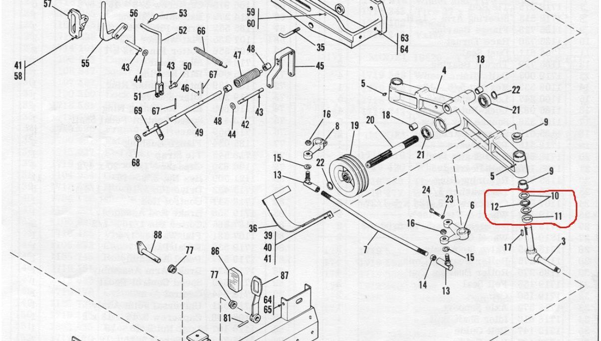 Troy Bilt Chainsaw Starter Wiring Diagram And Fuse Box Bolens Ht20 Front Axle Spindle Bearing Kit 1185729 1185730 1185988 Fits Ht23 Ect